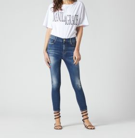 JEANS SKINNY EFFETTO USED