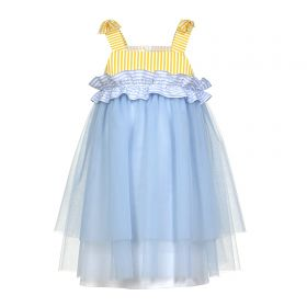 ABITO IN TULLE CON ROUCHES