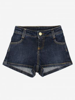 SHORTS IN JEANS CON LOGO