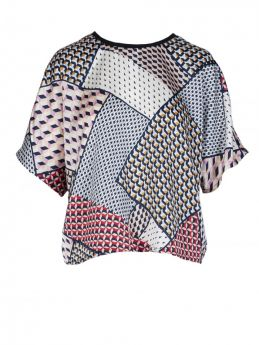 TOP OVER STAMPA FOULARD