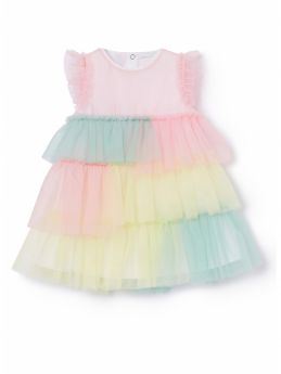 ABITO IN TULLE ARCOBALENO