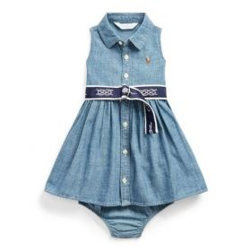 VESTITO E BLOOMER IN CHAMBRAY