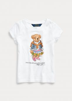 T- SHIRT IN JERSEY DI COTONE MADRAS BEAR