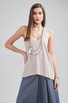 CARLA G TOP IN CREPE DE CHINE