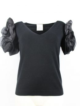 LAFTYLIE T-SHIRT CON TULLE