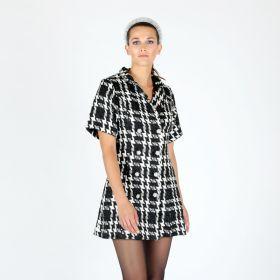 VESTITO TARTAN CON BOTTONI//TARTAN DRESS