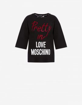 T-SHIRT IN JERSEY DI COTONE PRETTY IN LOVE