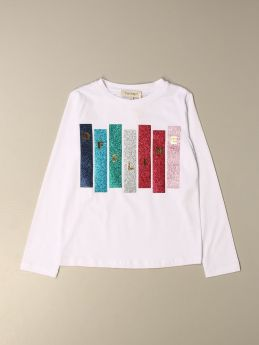 T-SHIRT TWINSET IN COTONE