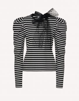T-SHIRT RED VALENTINO A RIGHE