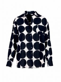CAMICIA OVER STAMPA BLACK POIS LILIANA