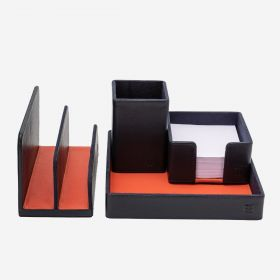 LEATHER OFFICE DESK ORGANIZER