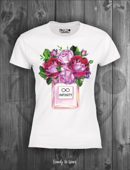 T-SHIRT CON STAMPA INFINITY